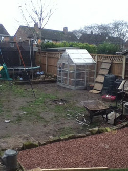 Before and after pic  full garden make over