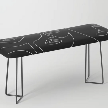 Creative Line Art Benches on Society6 from this pick for Artist of the Week