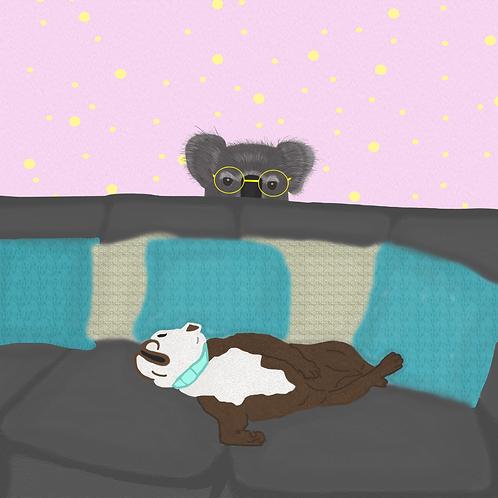 Dog and Koala Digital Painting