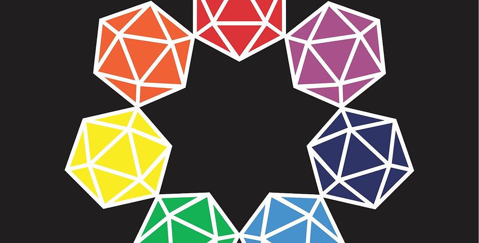Rainbow d20
