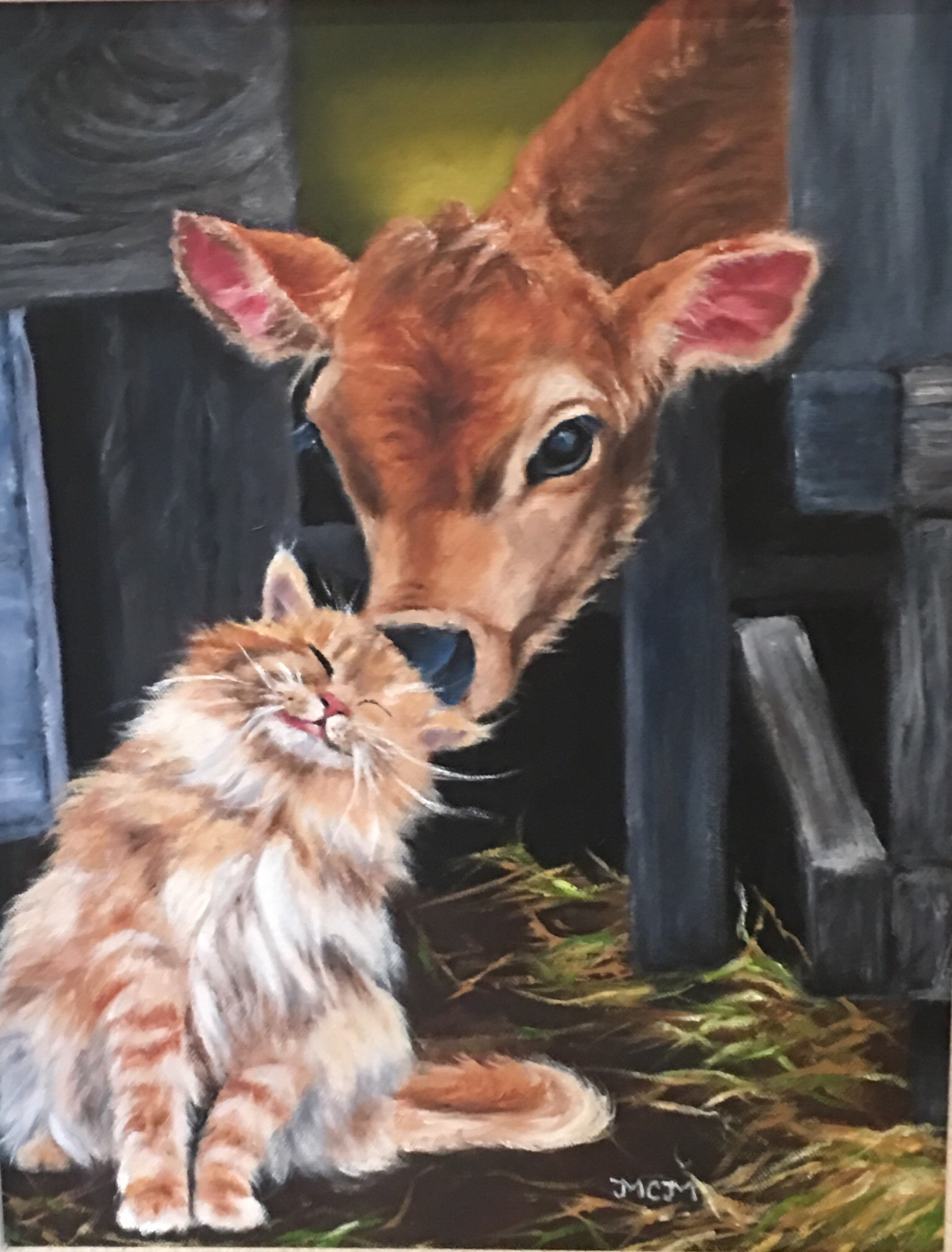 calf and kitty