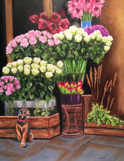 French flower market paint