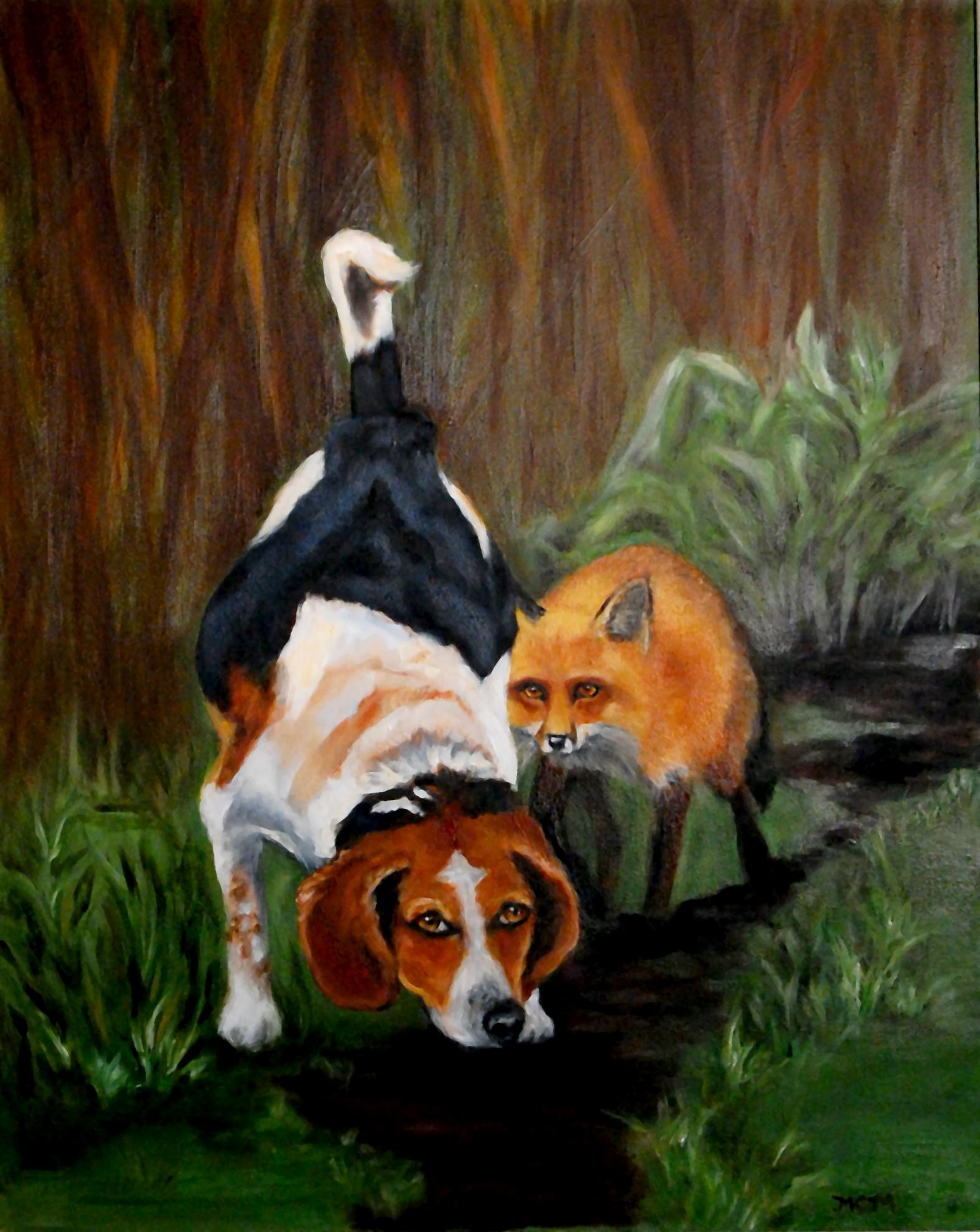 fox and hound framed edit