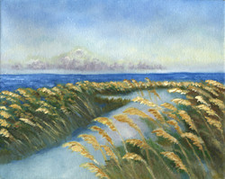 sea oats painting