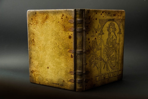 """Unique handmade hardcover genuine leather notebook journal """"Green Fairy"""""""