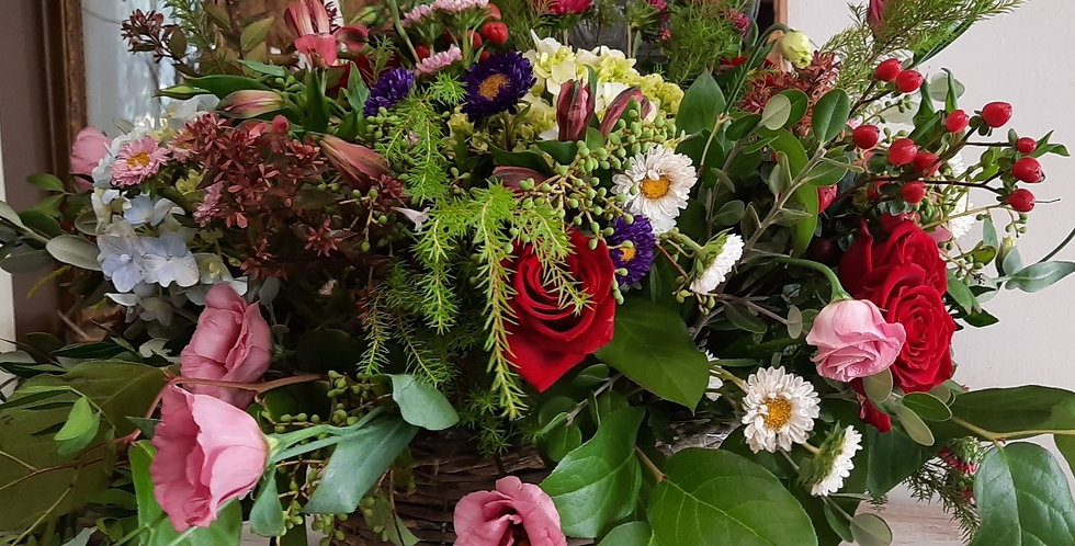 Cesta de Flores  Tamaño L  90€