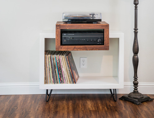 Modern Rustic Furniture Record Player Stands