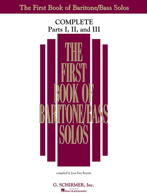 The First Book of Baritone/Bass Solos Complete