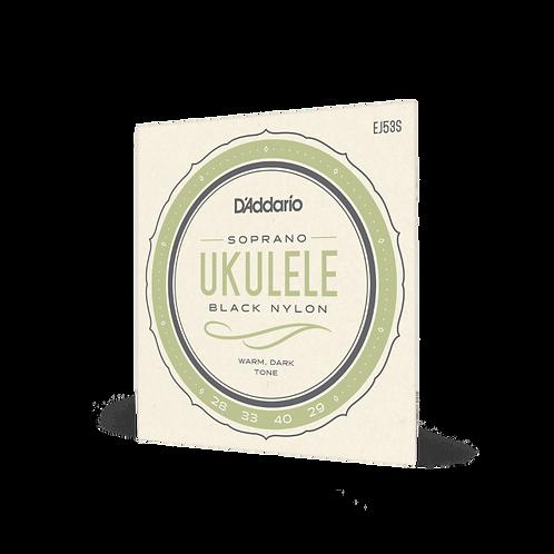 D'Addario Soprano Ukulele Strings - Black Nylon