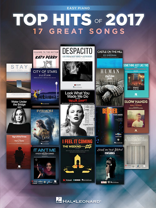 Top Hits of 2017, Easy Piano