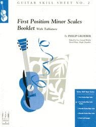 Hoja de habilidades de guitarra 2: Escalas menores de primera posición