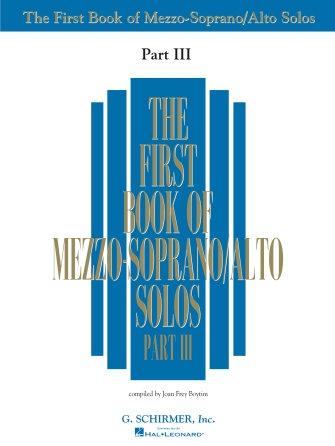 The First Book of Mezzo-Soprano/Alto Solos, Part 3