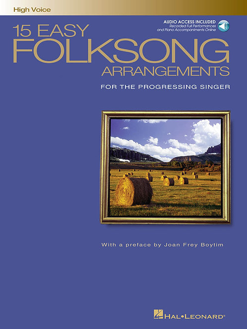 15 Easy Folksong Arrangements, High Voice w/ Audio