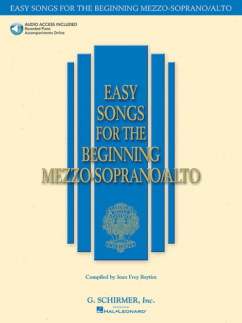 Easy Songs for the Beginning Mezzo-Soprano/Alto
