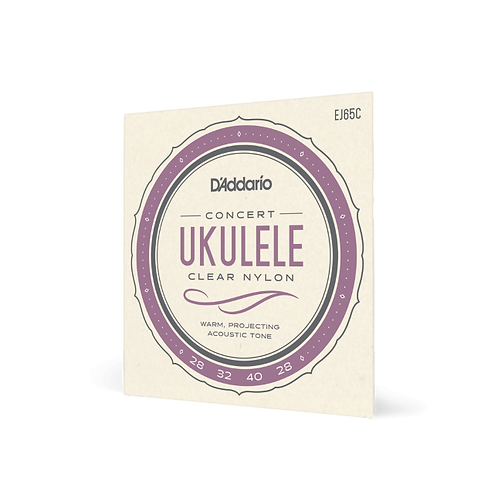 D'Addario Concert Ukulele Strings - Clear Nylon