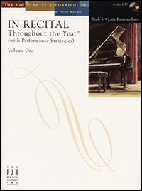 In Recital Throughout the Year, Book 6, Volume 1