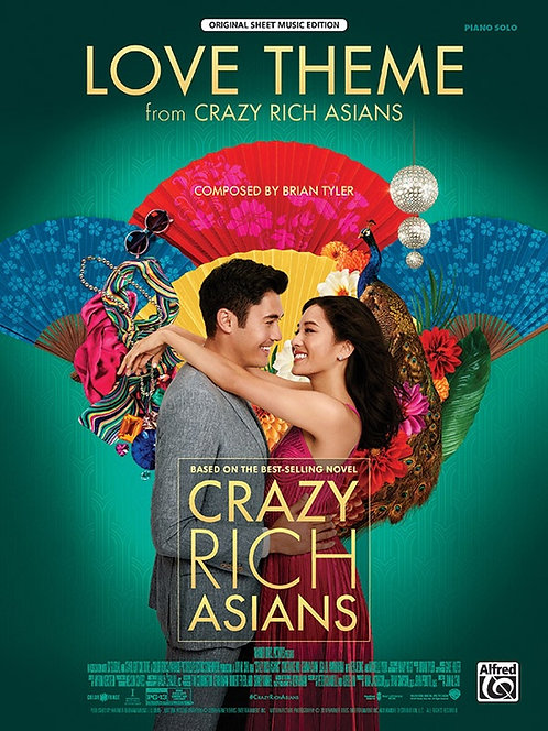 Tema de amor de Crazy Rich Asians, Partitura para piano