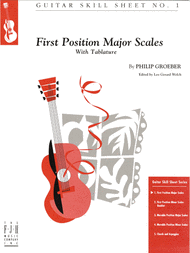 Guitar Skill Sheet 1: First Position Major Scales