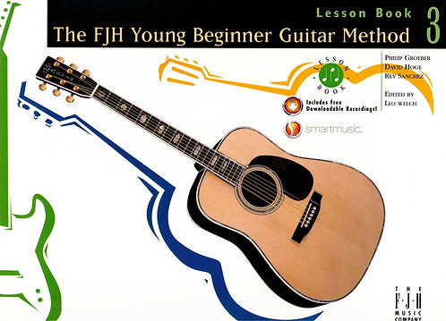 Young Beginner Guitar Method, Lesson Book 3 (with Audio Download)