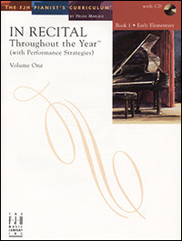 In Recital Throughout the Year, Book 1, Volume 1