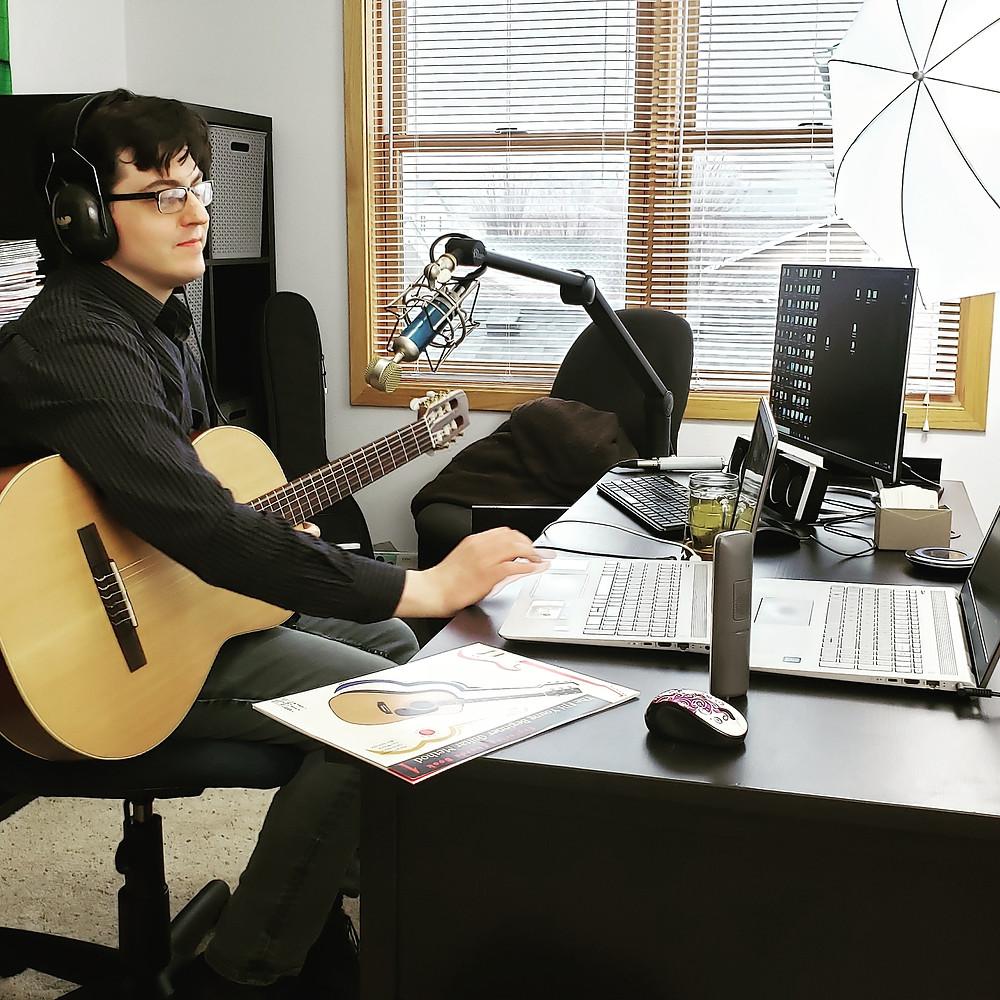 Adam Chisman teaching guitar online
