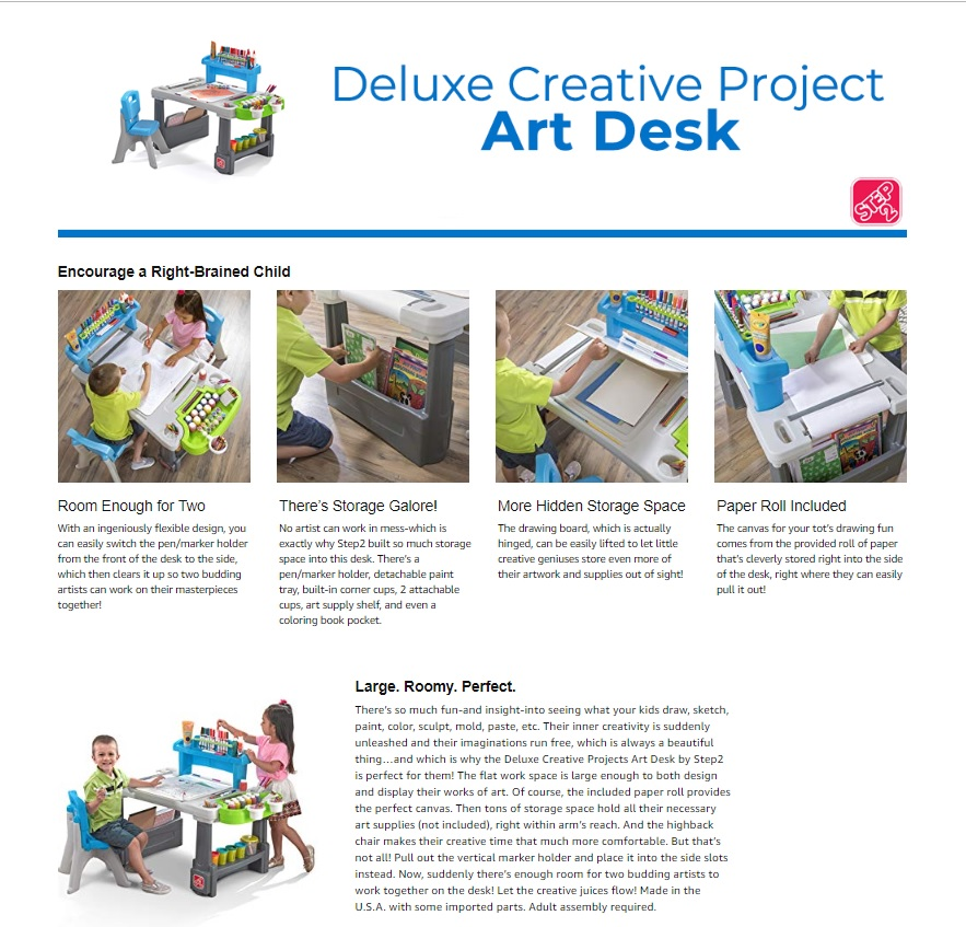 Step2 Art Desk ad