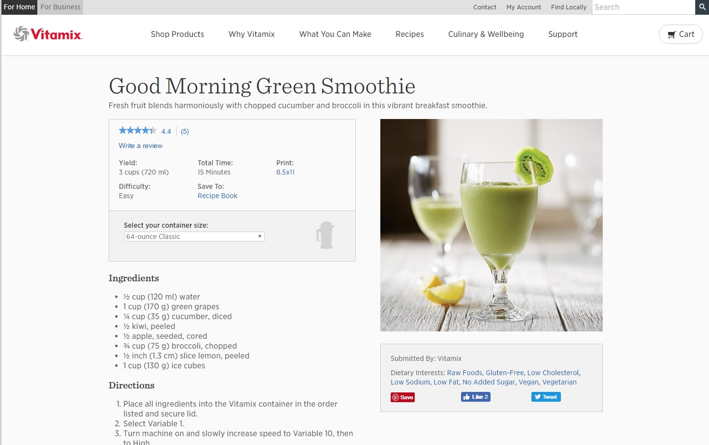 Vitamix web recipe