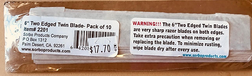 """Sorbo 6"""" Replacement Blades"""