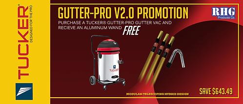 Tucker Gutter-Pro Gutter Vacuum 2.0 - Full Kit w/ aluminum Pole
