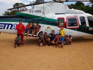Remoção de indígenas doentes do Tapajós e Arapiuns foi realizada por helicóptero da EMAR