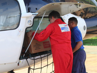 Urnas eletrônicas são enviadas de helicóptero para comunidades ribeirinhas e indígenas de RO