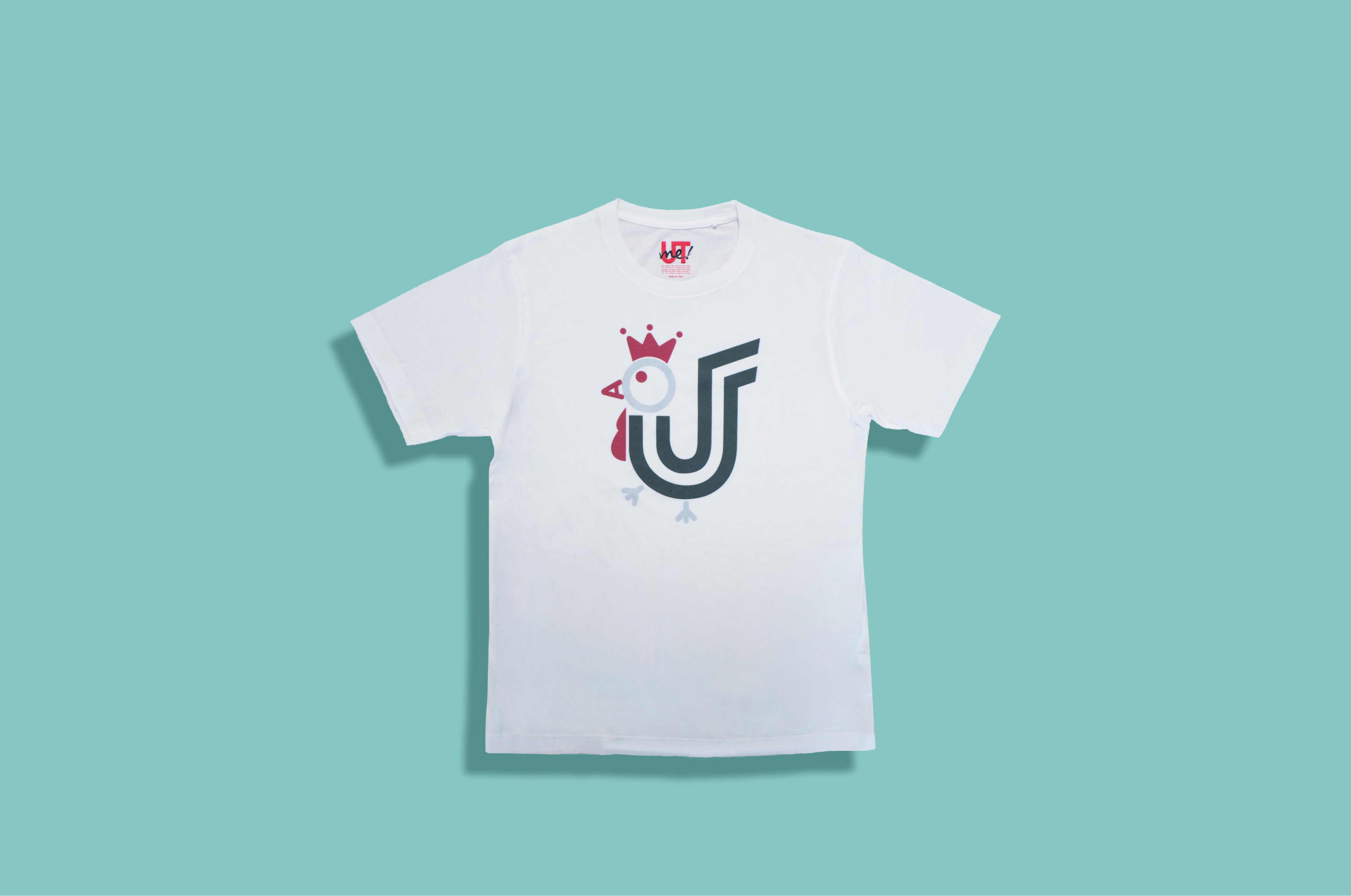グラフィック プリント ホワイトT-Shirt