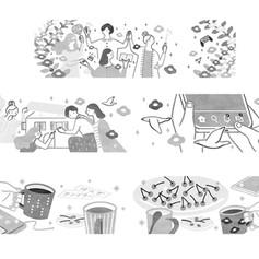 PHPスペシャル5月号「薄くゆるいつながり」で暮らすー本名も知らない君たちとー(藤谷千明) カットイラスト3点