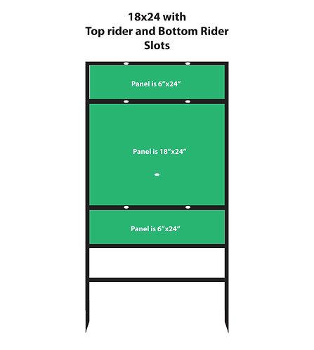 Horizontal 18x24 Top & Bottom Rider