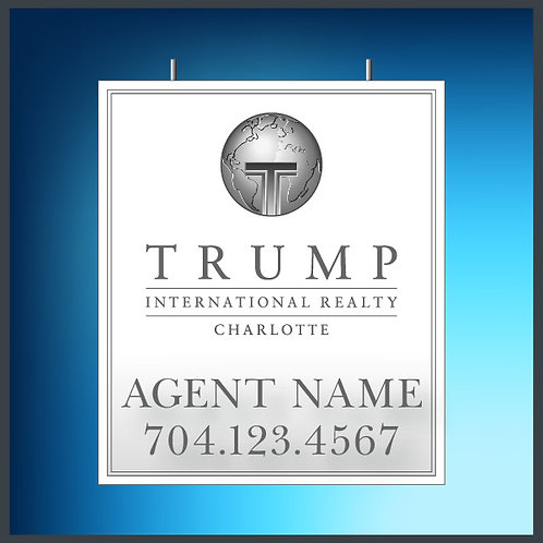 Trump White Hanging Large Logo