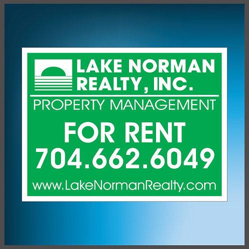 LNR Rent signs