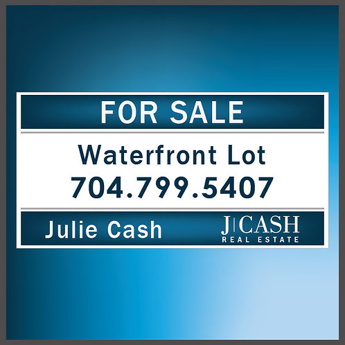 Waterfront Lot Banner