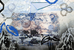 Image 9 - Metamorphose, 17_x22_, Digital Print and Mixed Media on Mylar, 2016