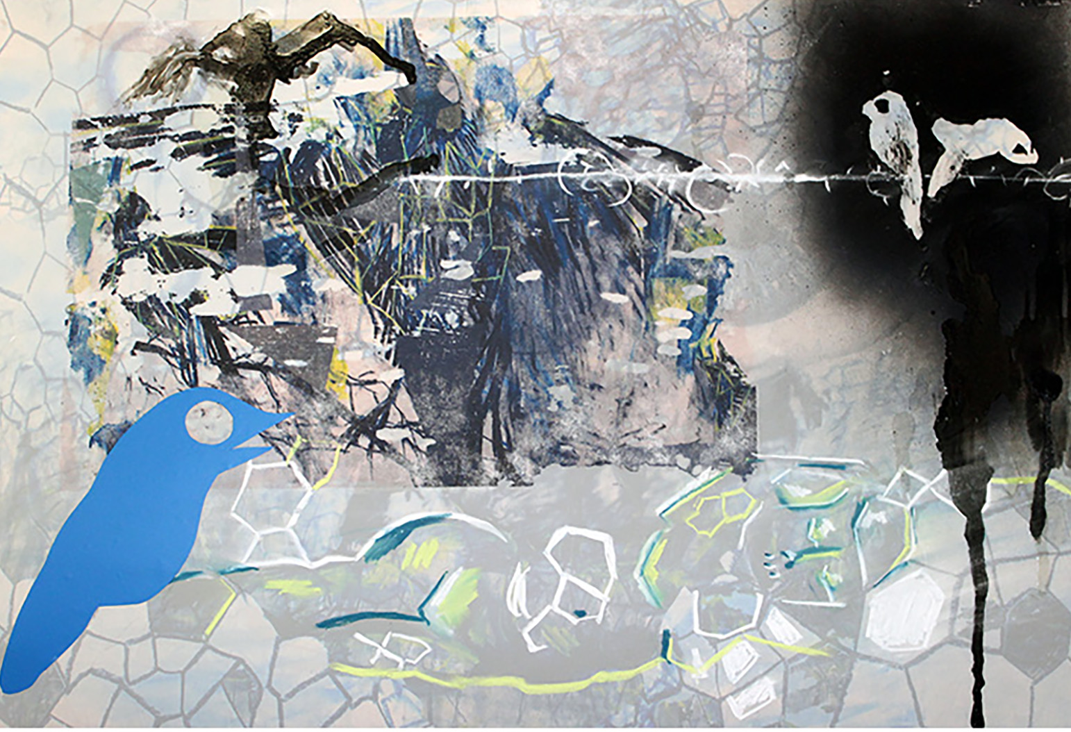 Image 12 - Cipher, 17_ x 22_, Digital Print and Mixed Media on Mylar,2016