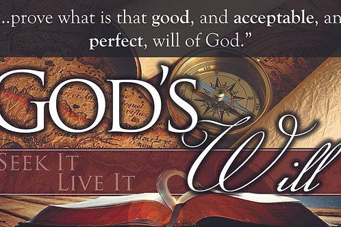 God's Will Banner