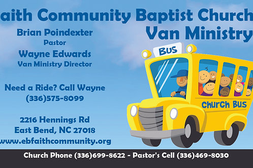 Bus Ministry Business Card