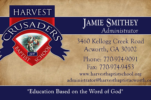 Parchment Business Card