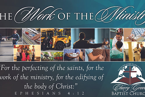 Work of The Ministry Banner
