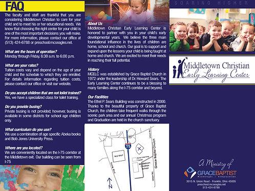 Daycare or Christian School Brochure