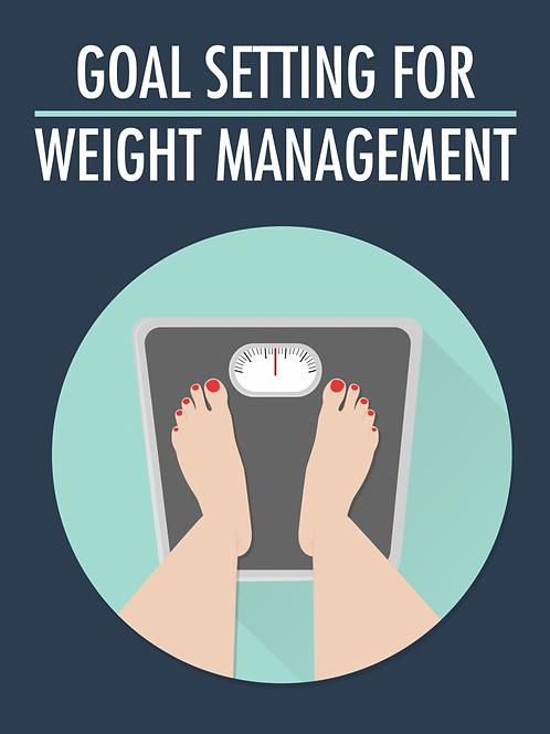 Estabelecimento de metas para controle de peso