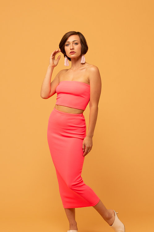 Knit In Neon Two Piece Set