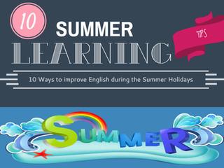 10 Summer Learning Tips