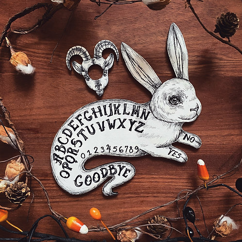 Holiday Pre-Order Ghost Bunny Ouija Board - White