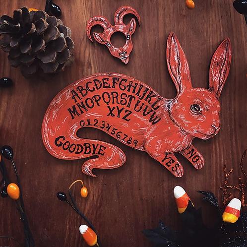 Pre-Order Ghost Bunny Ouija Board - Orange
