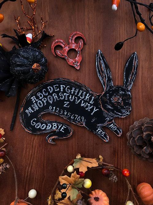 Holiday Pre-Order Ghost Bunny Ouija Board - Black